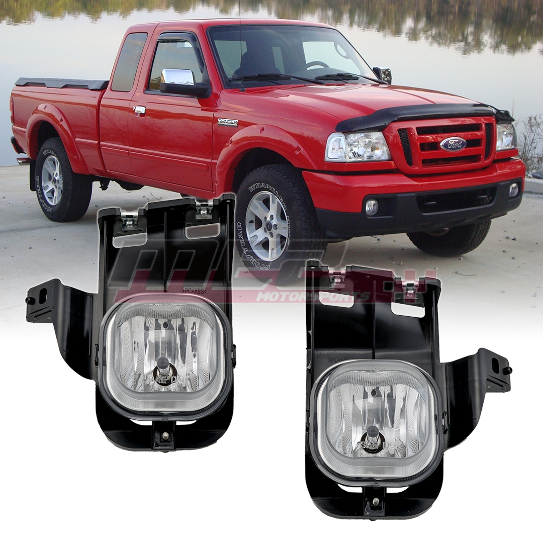 Details About Winjet 2006 2007 Ford Ranger Clear Replacement Fog Light Set Bulbs Included
