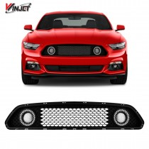 Renegade by Winjet Halo Ring DRL Upper Grille for 2015-2017 Ford Mustang S550 (Eco Boost, V6, & GT)