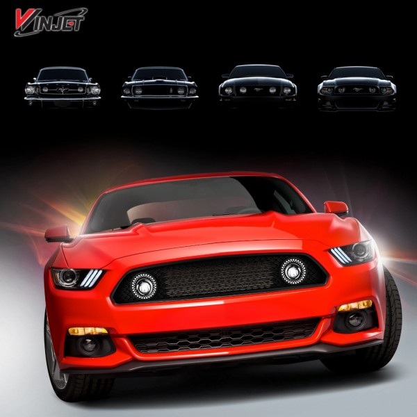 ford mustang  eco boost  gt center grille  fog lights
