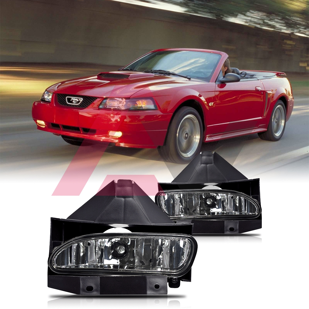 Details about 99 04 for ford mustang smoke lens pair bumper fog light lamp oe replacement dot
